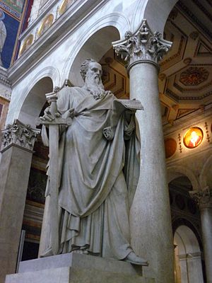 Statue of St. Paul Apostle in the Basilica San...