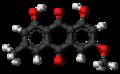 Parietin molecule ball.png