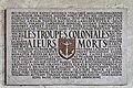 Paris - Plaque commémorative apposée sur un mur des Invalides - PA00088714 - 001.jpg