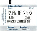 Parking ticket Wohnmobile Kronenburger See, Germany 2016.jpg