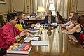 Parodi, Flores Enriquez, Gareca, Guariglio, Osinaga y Encina - Parodi se reunió con Liborio Flores Enriquez (16510173970).jpg