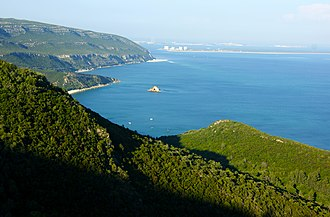 Nature Park of Arrábida - A scenic view of the coastal part of the Nature Park of Arrábida