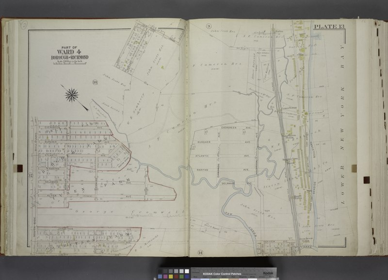 File:Part of Ward 4. (Map bound by Scott Ave, Old Town Road, South Field Beach Rail Road, New Creek, Liberty Ave, South Side Boulevard, Evergreen Ave) NYPL1646280.tiff