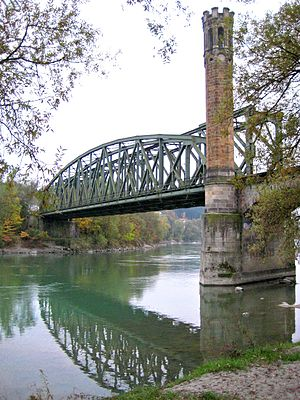 Wels–Passau railway - The Inn bridge at Passau