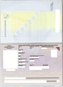 Bosnia And Herzegovina Passport Wikipedia
