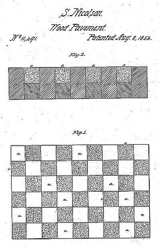 City of Elizabeth v. American Nicholson Pavement Co. - Nicolson's patented pavement, as shown in his patent