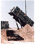 Patriot missile launcher during the Gulf War.jpg