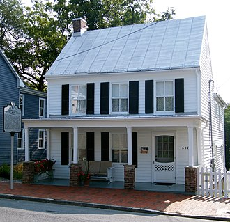 Patsy Cline - Cline's house on South Kent Street in Winchester, Virginia where she lived from age 16 to 21