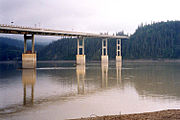 The E. L. Patton Yukon River Bridge carries the Dalton Highway over the Yukon north of Fairbanks.
