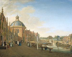 Paulus Constantijn la Fargue - The barge-canal between The Hague and Leiden at Leidschendam by Paulus Constantijn la Fargue, Rijksmuseum Twenthe, 1756