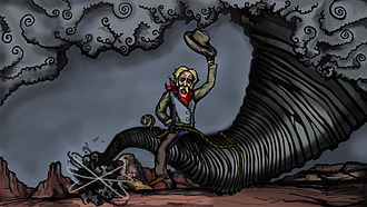 Pecos Bill - On one of his adventures, Pecos Bill managed to lasso a twister.