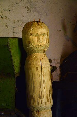 Peko - Carved idol of Peko. Radaja Seto Museum.