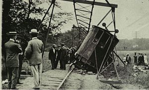 Pelham Park and City Island Railway - The Flying Lady derailment, 1910