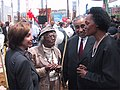 Pelosi, Maxwell, Rangel and Maxwell at Third Street Light Rail Project groundbreaking, March 2003.jpg
