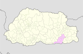 Location of Chimoong Gewog