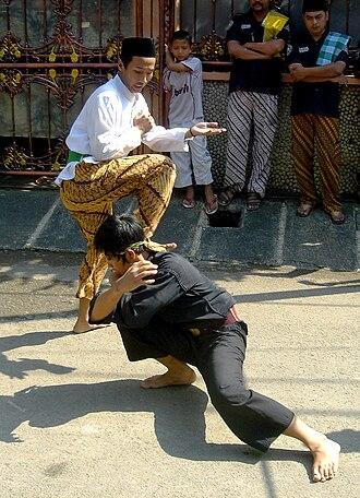 Pencak Silat - Silat Betawi demonstration in Jakarta