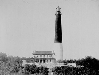 Pensacola Light - The second Pensacola Lighthouse, date unknown