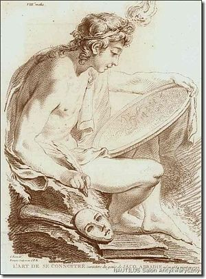 Jean-Charles François - The personification of self-discovery by Jean-Charles François, 1760
