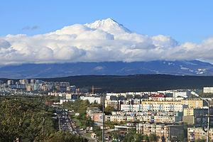 Petropavlovsk-Kamchatsky - Petropavlovsk-Kamchatsky with Koryaksky volcano