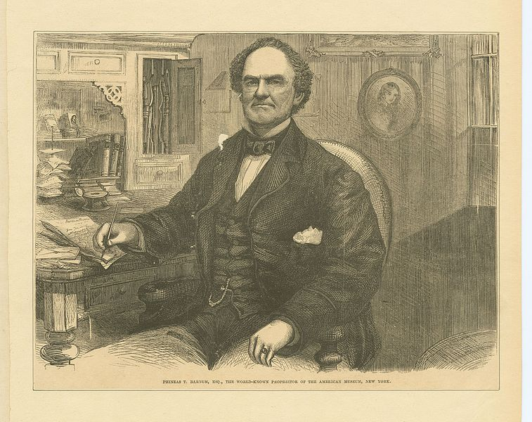 Phineas T. Barnum, the world-known proprietor of the American Museum, New York Date1861-ca. 1880