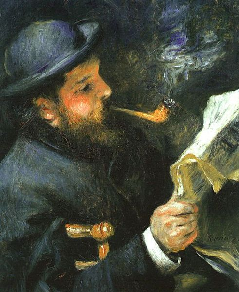 File:Pierre August Renoir, Claude Monet Reading.jpg