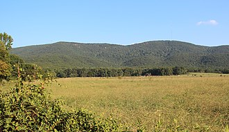 Cherokee County, Georgia - Pine Log Mountain (left) and Bear Mountain (right)