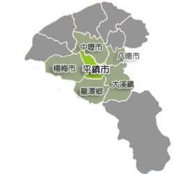 Location of Pingzhen City