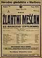 Plakat za predstavo Žlahtni meščan v Narodnem gledališču v Mariboru 9. februarja 1926.jpg