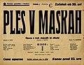 Plakat za predstavo Ples v maskah v Narodnem gledališču v Maribor 1. junija 1940.jpg