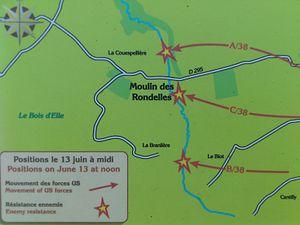 Cerisy-la-Forêt - Battle of the Mill of Rondelles.