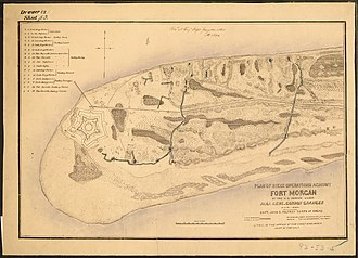 Siege of Fort Morgan - Plan of Siege Operations.