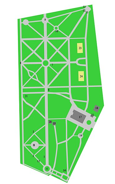Plan of the Memorial park