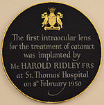Intraocular lens - Wikipedia, the free encyclopedia