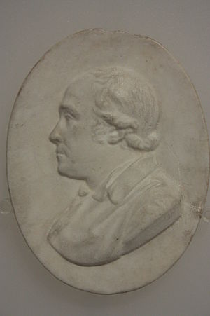 John Hunter (surgeon) - Plaster cast medallion of Dr John Hunter, Science Museum, London