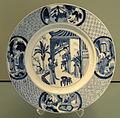 Plate with Heroine of Romance of the Western Chamber, c. 1680-1700, Jingdezhen, hard-paste porcelain with underglaze cobalt - Gardiner Museum, Toronto - DSC00721.JPG