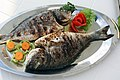 Plated grilled fish (cropped).jpg