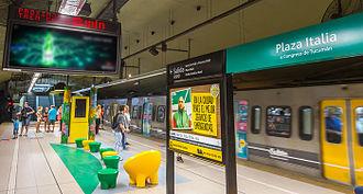 Plaza Italia (Buenos Aires Underground) - Image: Plaza Italia station
