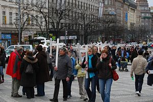March for Life (Prague) - 2009 Pro-life March on Wenceslas Square, 28 March 2009