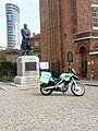 Police motorbike at entrance to Portsmouth Dockyard - geograph.org.uk - 902810.jpg