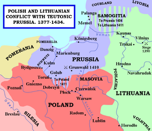 Heinrich von Plauen - Polish and Lithuanian conflict with Teutonic Knights