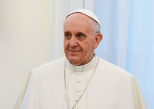 Pope Francis in March 2013 b