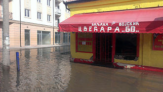 2014 Southeast Europe floods - Obrenovac suffered the largest number of casualties and destruction during the flooding