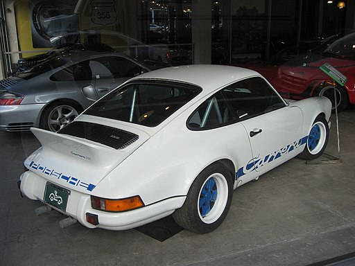 Porsche Carrera RS white - blue