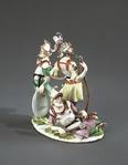 Porslin. Figurgrupp - tre romerska krigare - Hallwylska museet - 89251.tif