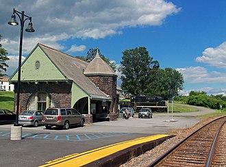 Moriah, New York - The Port Henry Amtrak station provides passenger rail service to the town.