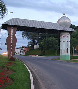 Entrance to Prudentópolis.