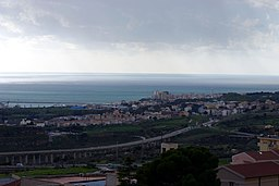 Porto Empedocle seen from Agrigento - Italy 2015.JPG