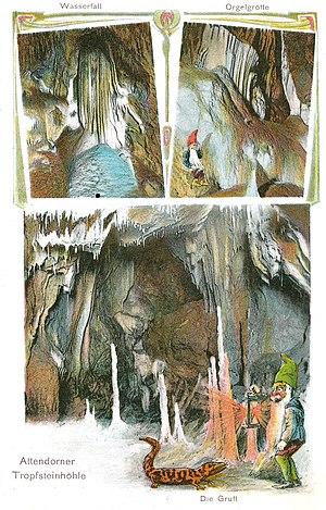 Atta Cave - Advertising postcard of 1910