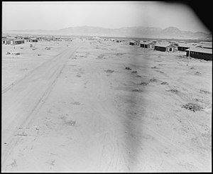 Big Maria Mountains - Image: Poston, Arizona. Street scene at the relocation center for evacuees of Japanese ancestry. This is . . . NARA 536146