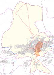 Austria map, position of Pradl highlighted